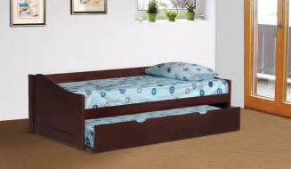 Daybed With Trundle Size Espresso Finish Wood Size Day Bed Daybed With