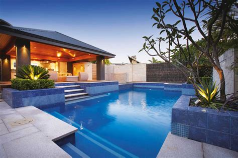 backyard swimming pool designs ideas bottom blue ceramic