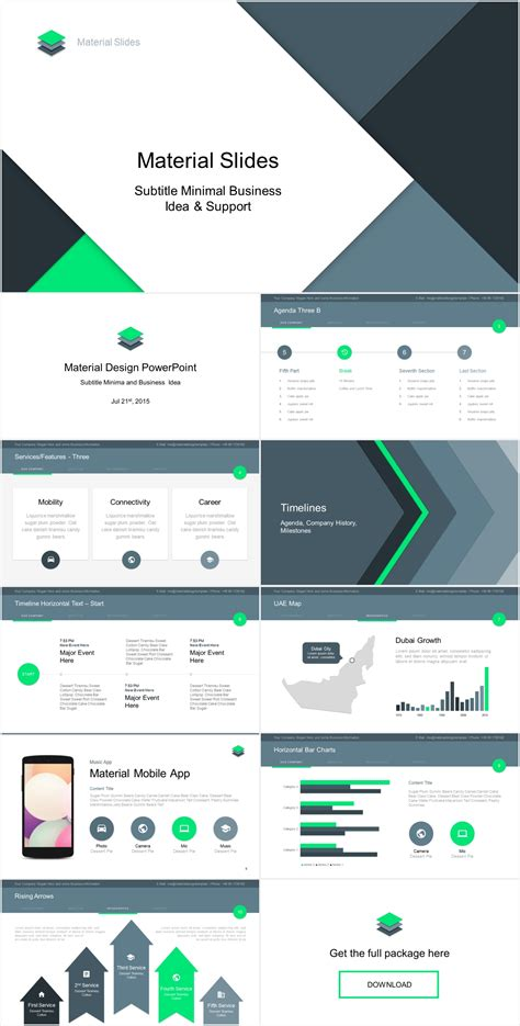 what is a design template in powerpoint material design powerpoint template just free slides