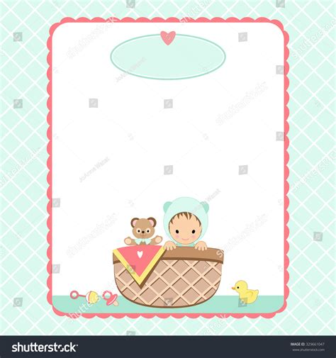 templates for baby shower in vector from stock 25 eps baby shower invitation background baby basket stock vector