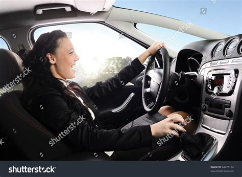 what is the most comfortable car to drive happy young businesswoman drive modern comfortable stock