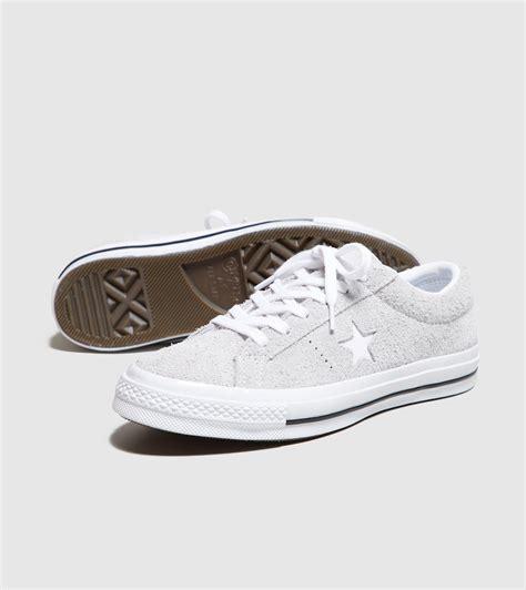 Sepatu Converse One Suede converse one suede s in white save 4 lyst