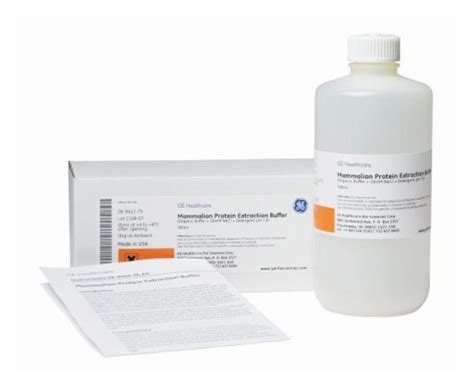 protein l ge ge healthcare mammalian protein extraction buffer 500ml ge