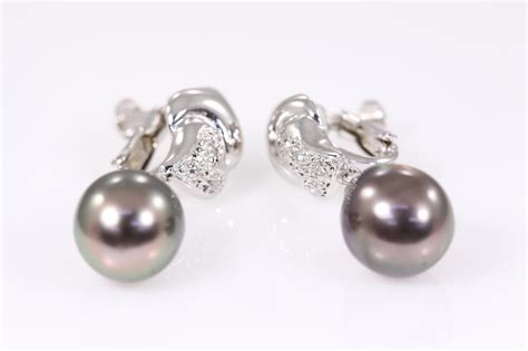 tahitian pearl and earrings state auctions