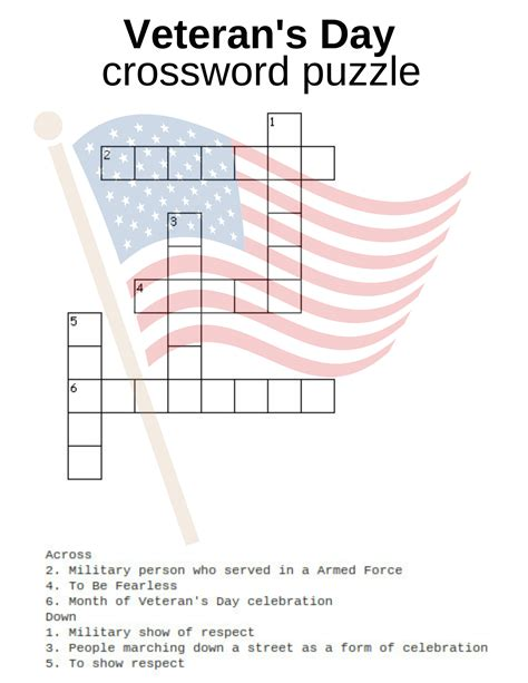 s day puzzle veteran s day activities free printables crossword word