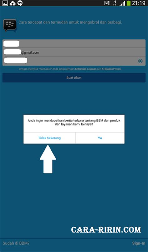 membuat email baru buat bbm daftar bbm buat akun blackberry messenger di android