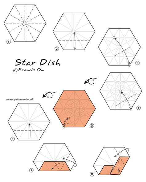 How To Make Paper Dish - francis ow s origami diagrams dish