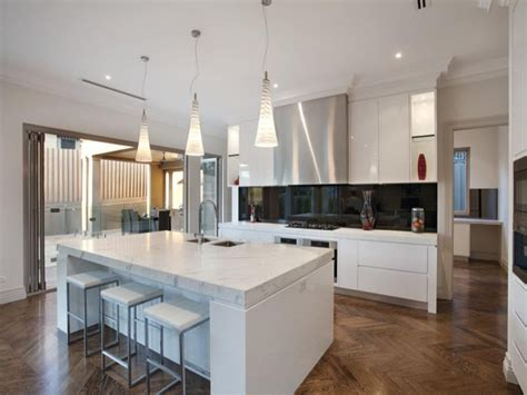 modern island kitchen modern island kitchen design using floorboards kitchen