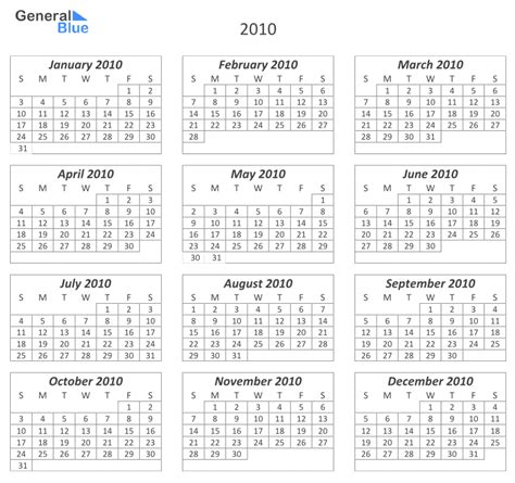 all templates 12 month calendar template