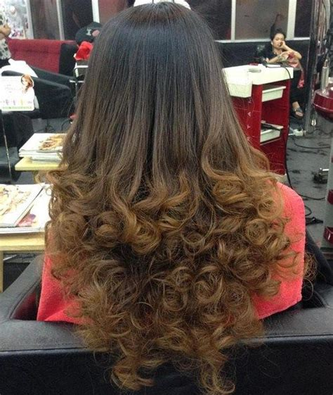 hairstyles with curly ends 1000 ideas about perms long hair on pinterest long perm