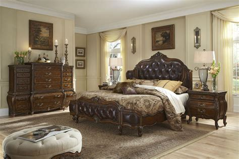 mansion bedroom set lavelle melange mansion leather bedroom set from aico
