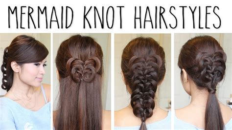 how to do knot hairstyles easy knotted braid hairstyles hair tutorial youtube