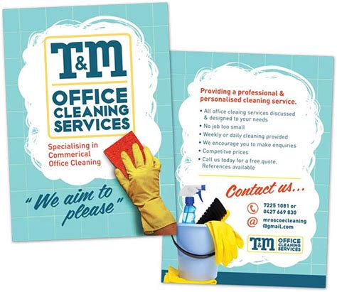 cleaning brochure templates free 15 cool cleaning service flyers printaholic
