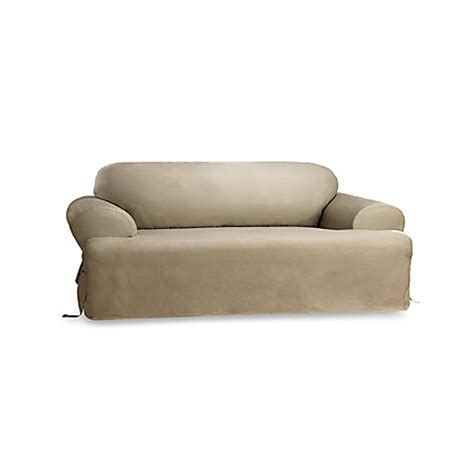 Duck Linen T Cushion Sofa Slipcover By Sure Fit 174 Bed Linen Sofa Slipcover