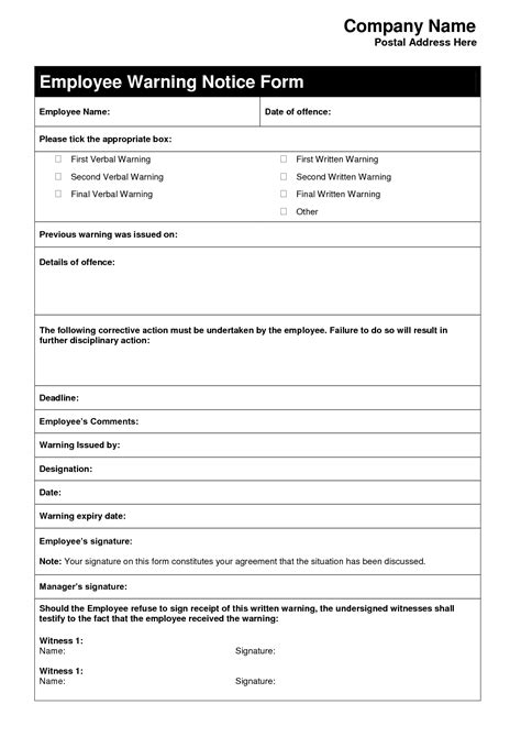 templates for employers employee warning letter template letters free sle