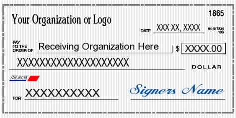 Big Checks For Presentations Oversized Check Template Free