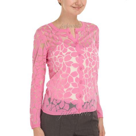 yoana baraschi indian pink aloe flower burnout cardigan