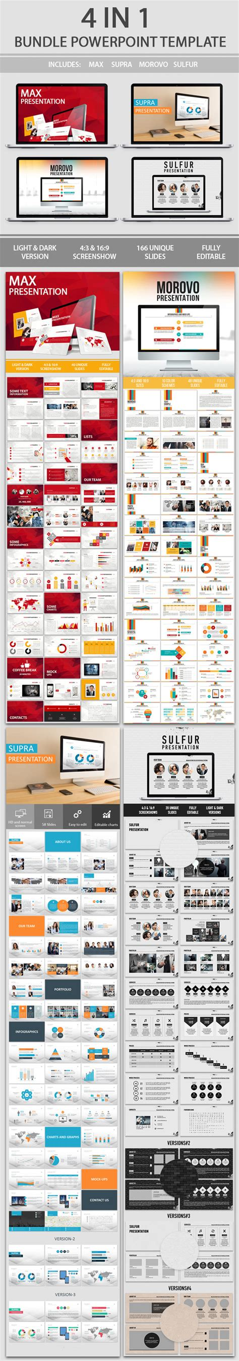 Template Powerpoint 4 In 1 Business Powerpoint Bundle discover 4 in 1 bundle powerpoint template infographicnow your number one source for