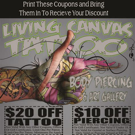 living canvas tattoo body piecing amp art gallery columbia