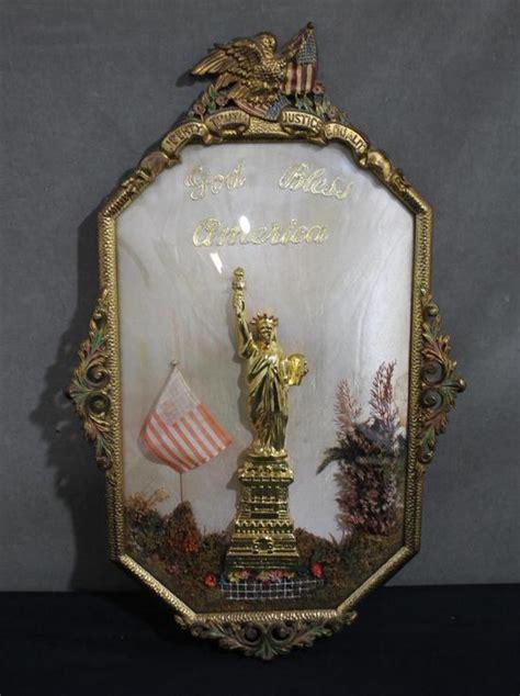 antique   york city statue  liberty american