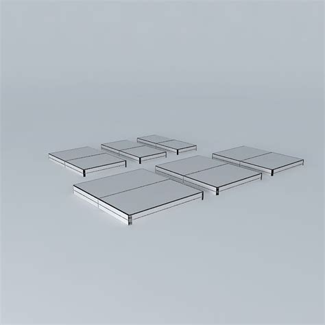 all bed sizes mattresses all standard bed sizes 3d model max obj 3ds