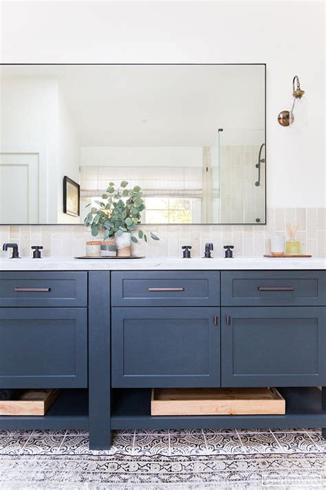 blue bathroom mirror best 25 blue vanity ideas on pinterest blue bathroom