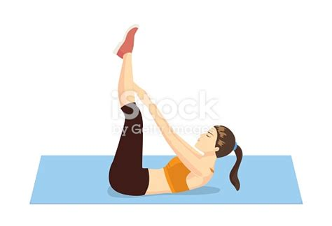 healthy abdominal exercises stock vector more images of 2015 490940634 istock