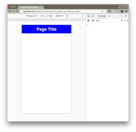 app layout box create a full screen layout for mobile web apps coder