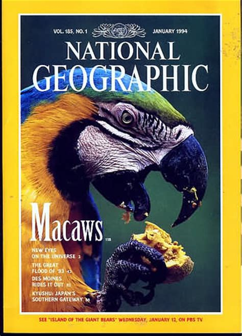 National Geographic January 1994 Product National