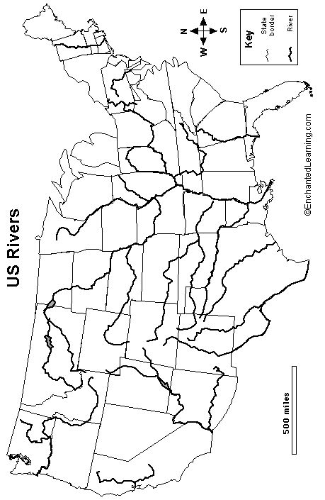 united states outline map with rivers blank map of united states with major rivers