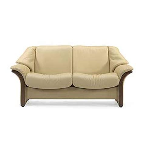 Conlins Furniture by Stressless By Ekornes Stressless Eldorado Low Back Reclining Leather Loveseat Conlin S