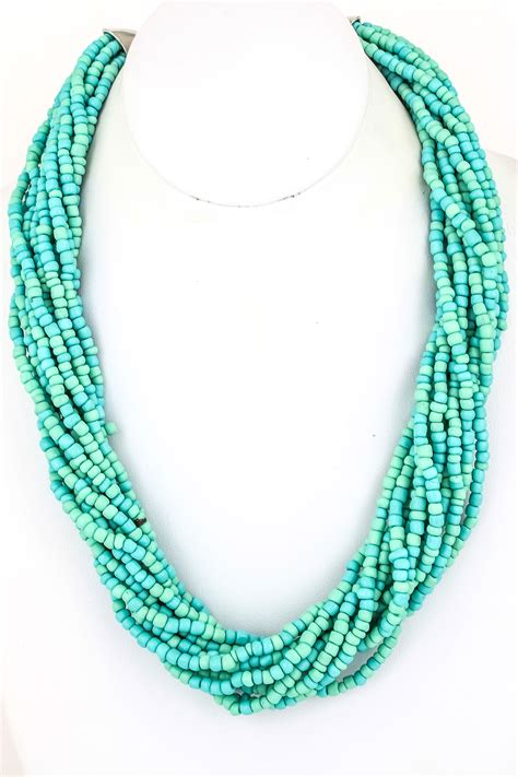 seed bead necklace twelve strand seed bead necklace necklaces