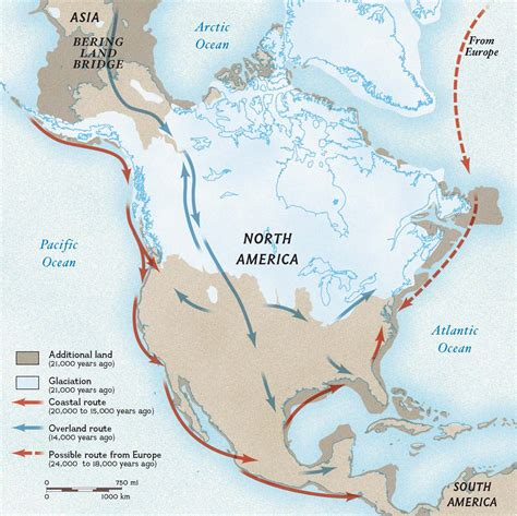 american migration from asia map ancient dna links americans nat geo education