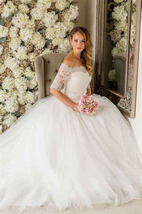 Bardot Lace Wedding Dress by Bardot Lace Top Joyce