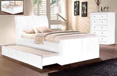 King Single Bed Frame With Storage New Lecca King Single Size W Trundle Bed Or Storage White