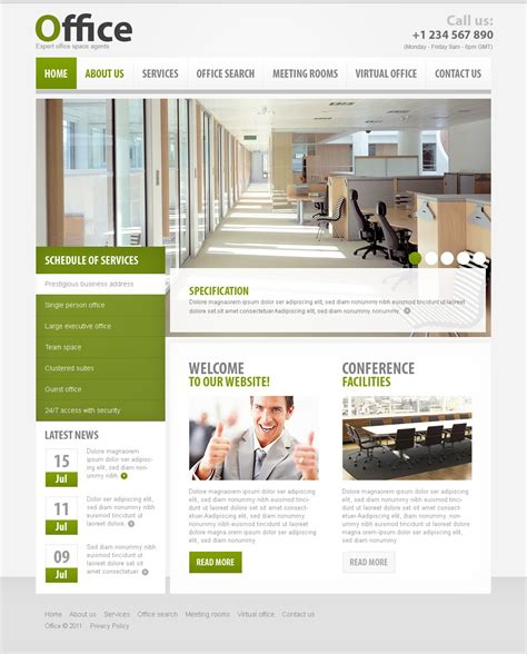 Office Website Templates Office Website Template 34353