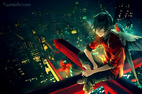 anime boy alone wallpaper anime anime boys city artwork alone
