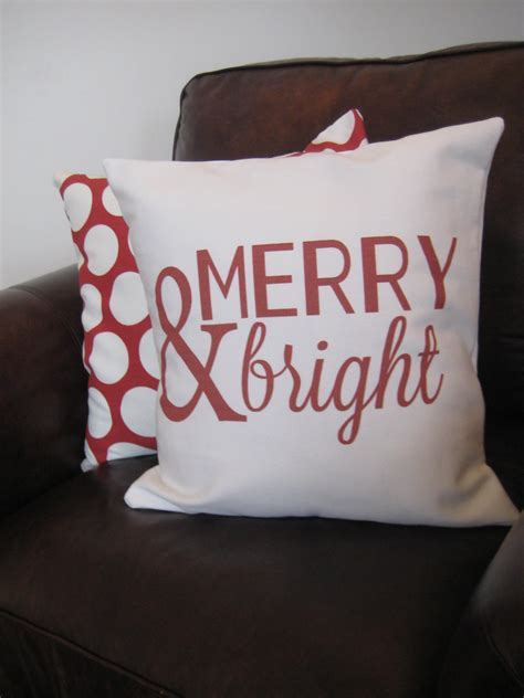 Merry Pillow by Merry Bright Pillow Cover White Fabric
