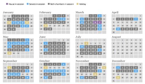 Congressional Calendar 2017 Congressional Calendar