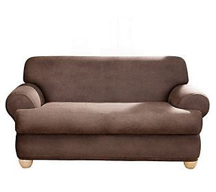 faux leather slipcover sure fit stretch faux leather t cushion sofa slipcover