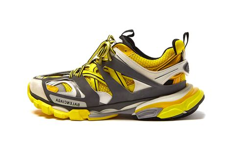balenciaga track sneakers bold yellow treatment hypebeast