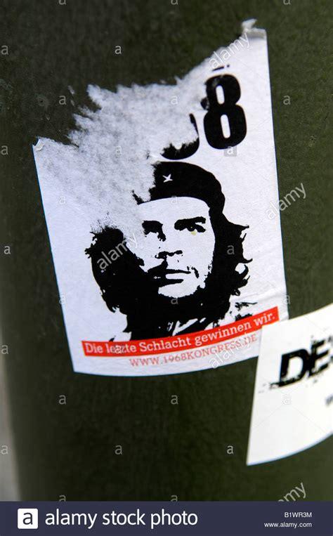 Aufkleber Che che guevara aufkleber kunst wheatpaste berlin deutschland