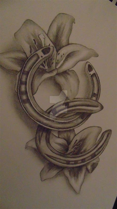 horseshoe tattoos designs best 25 horseshoe tattoos ideas on