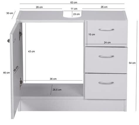 badezimmer unterschrank schubladen finebuy bad waschbecken unterschrank 54 x 63 x 30 cm 1 t 252 r