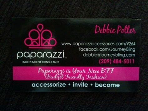 paparazzi accessories business card template my new business cards so pretty debbie s paparazzi