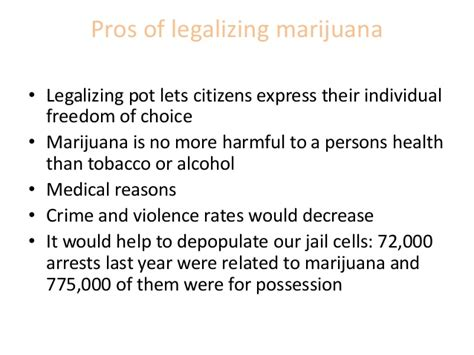 thesis statement for legalizing marijuana powerpoint for research paper