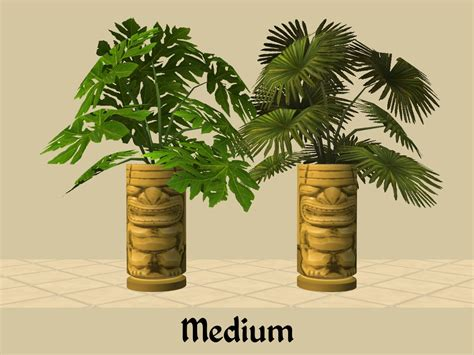Palm Tiki Mod The Sims Tiki Palm