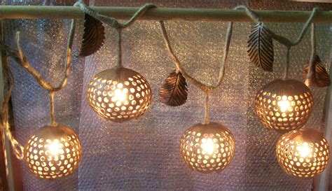 Wood Hanging L Ivy 5 Ball Coconut Shell Fruit Lanterns Decorative Garden Lights