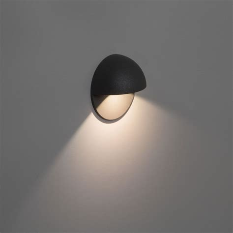 exterior wall light black painted silver finish uses a