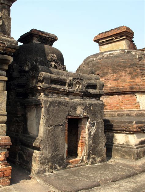 this small temple from nalanda takes the form of a relic